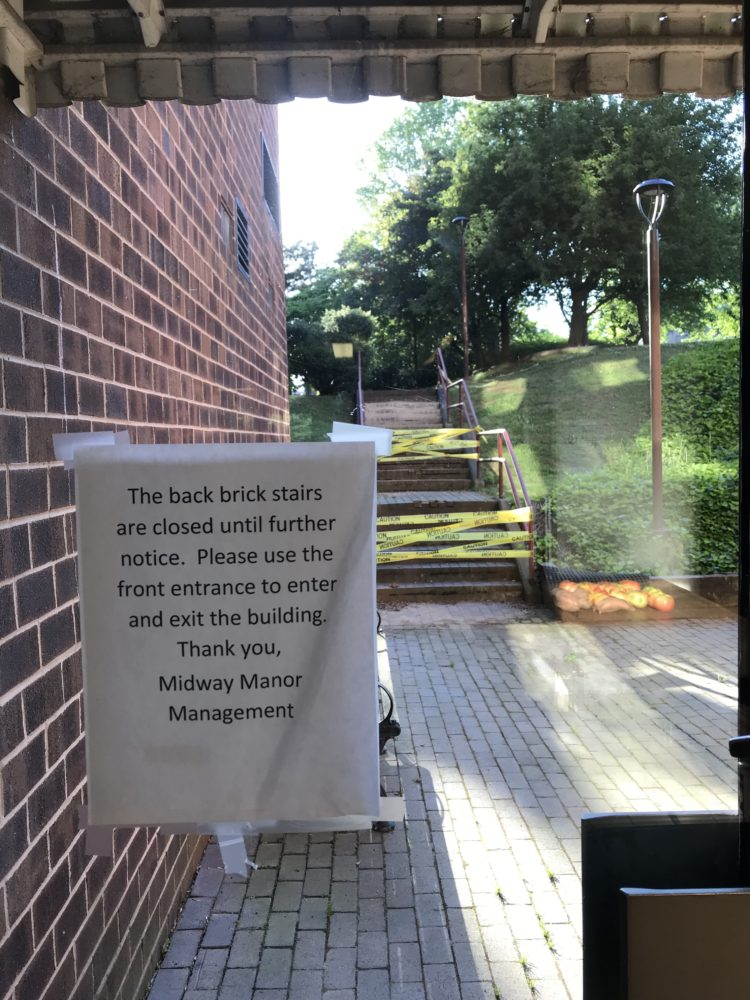 Midway Manor outdoor stairs